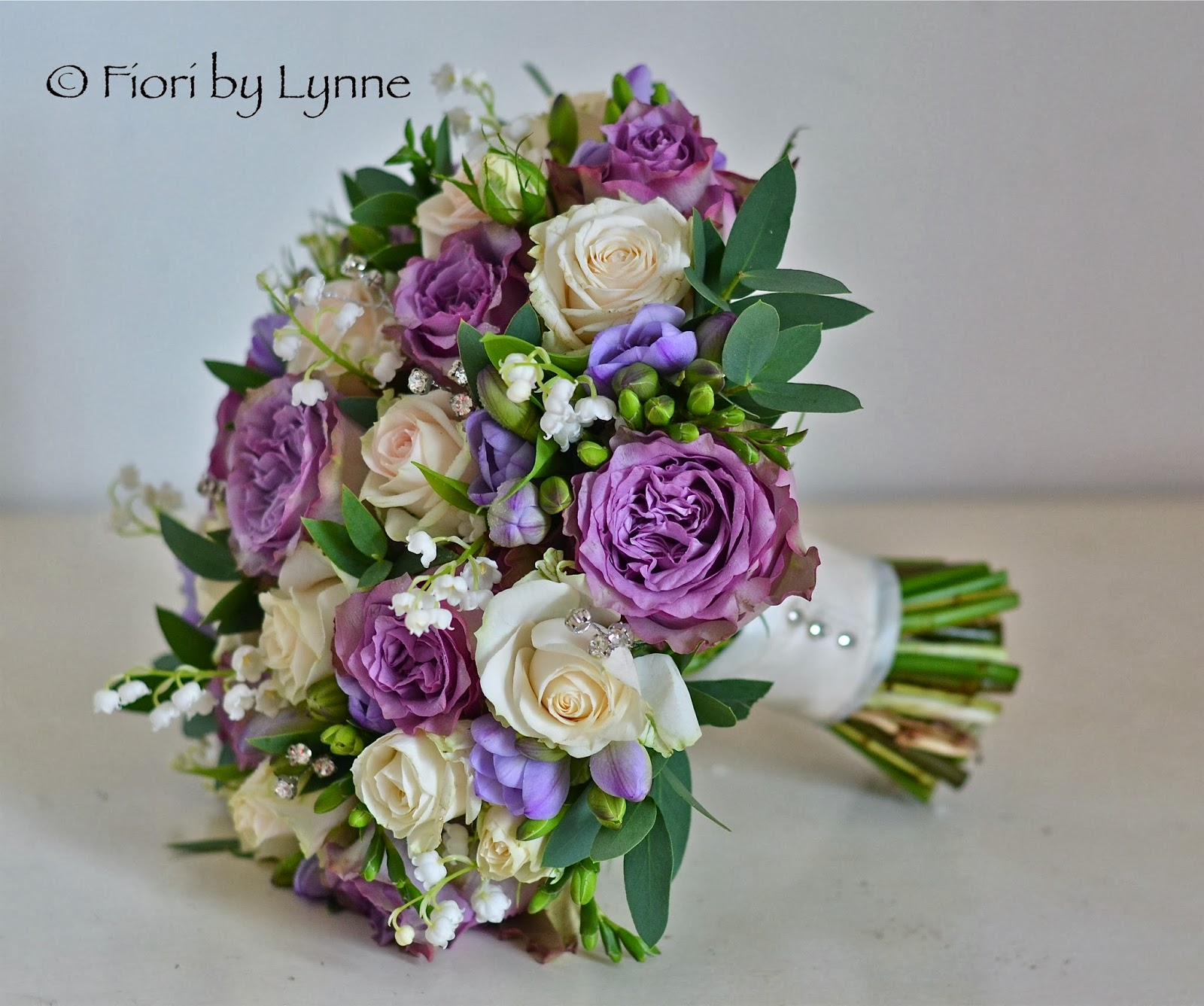 Marilyn S Antique Purple And Cream Wedding Flowers New Place