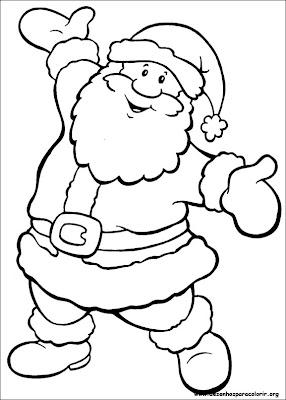 imagens p colorir de natal - Siga o Papai Noel Google traz desenhos para colorir online