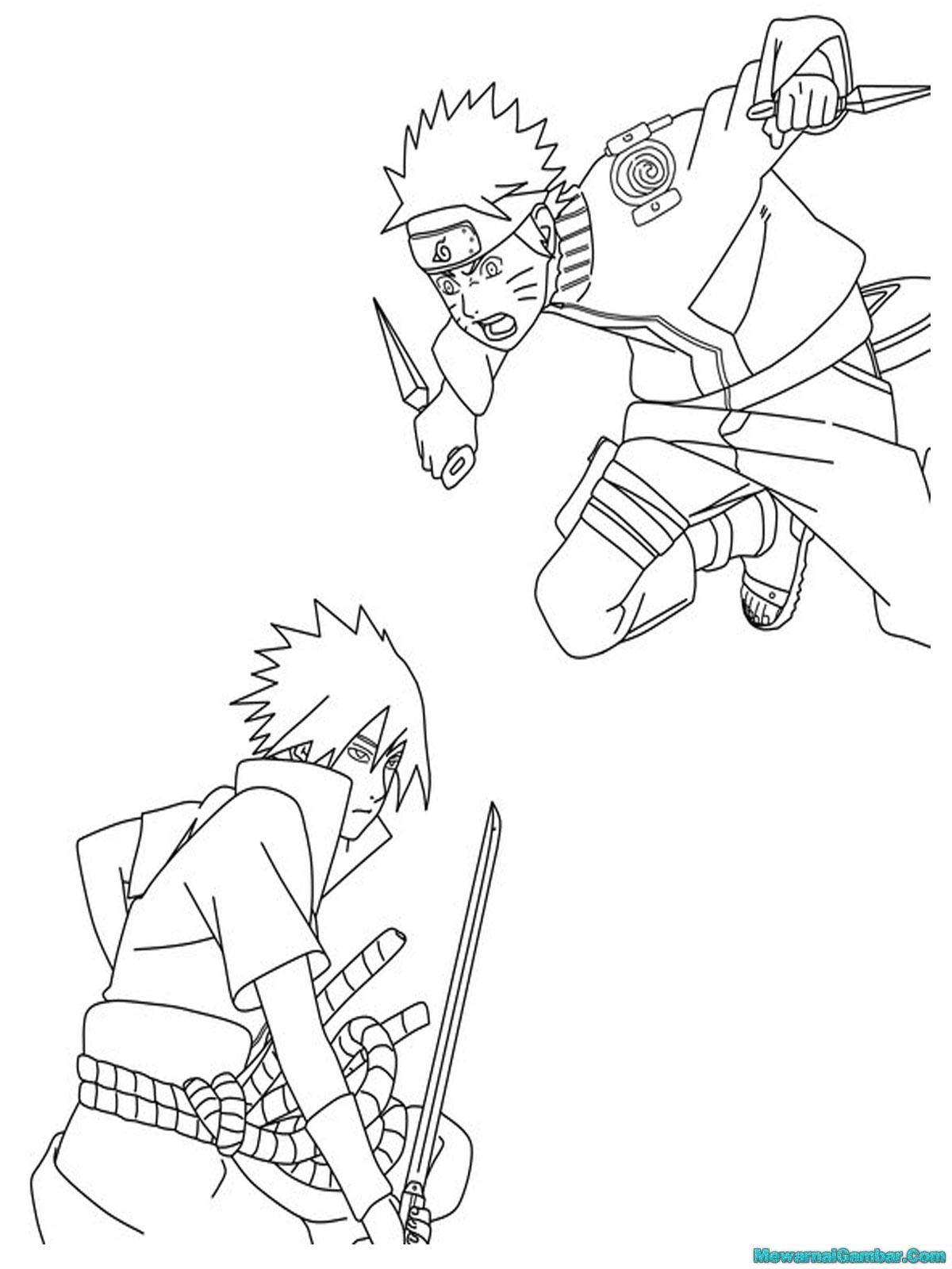 Mewarnai Gambar Naruto | Mewarnai Gambar