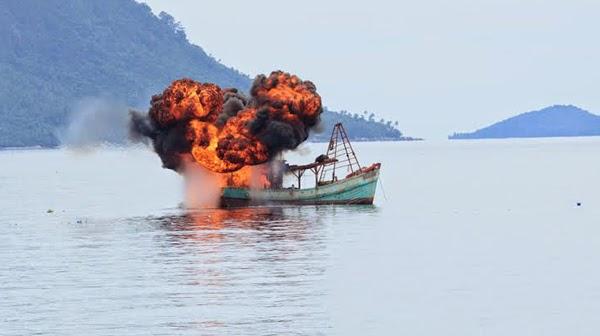 penenggelaman kapal,illegal fhising