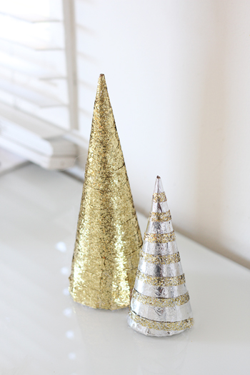 Glitter christmas tree diy julie ann art