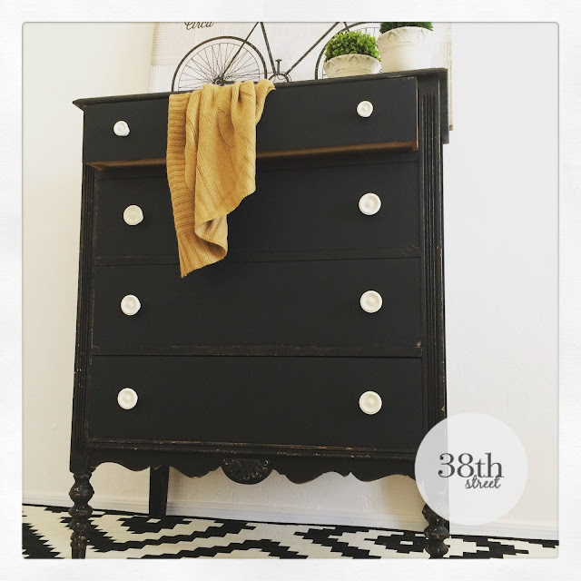 how to refinish furniture, diy, ofmp, old fashioned milk paint, black and white dresser