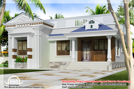 Kerala style budget villa single floor