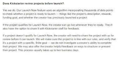 Kickstarter actually reviews projects?