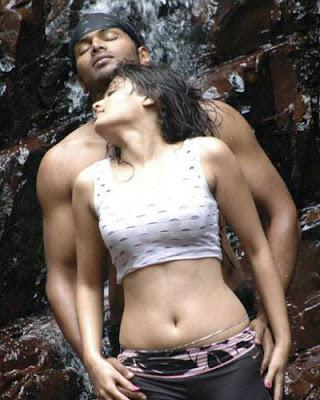sneha ullal hot back show and navel stills mallu surf