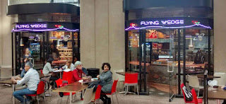 Flying Wedge Pizza Company Storefront at Vancouver Public Library
