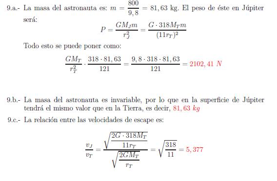 Examenes de selectividad campo gravitatorio problema resuelto 9