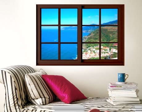 window view ocean poster