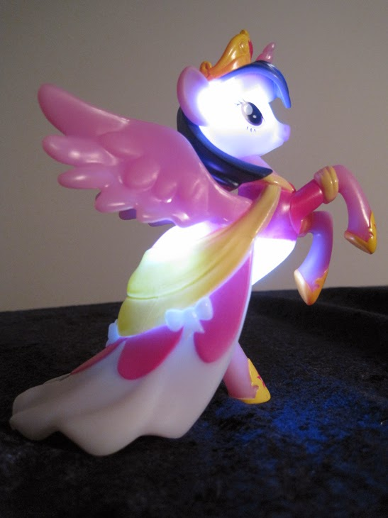 My Little Pony: Friendship is Magic Nite Friends Princess Twilight Sparkle figure, lit up.