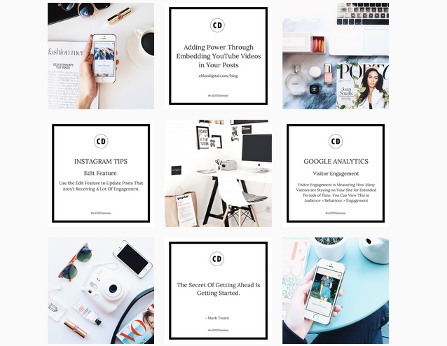 5 instagram templates to use