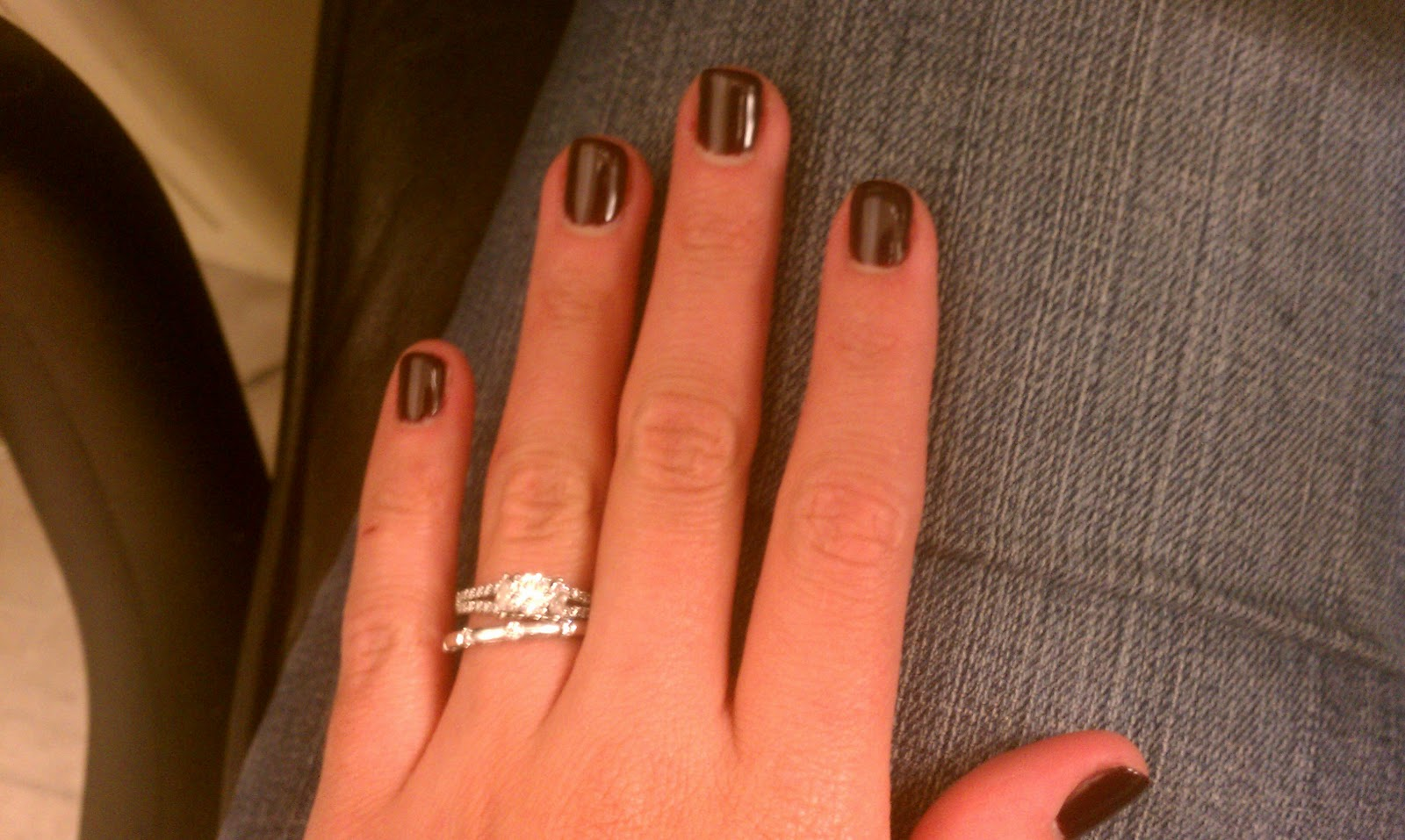 got my nails done yesterday and i decided to go with gel nails i ve