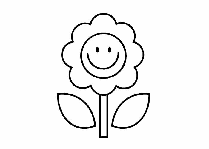Cartoon Flower Coloring Pages title=