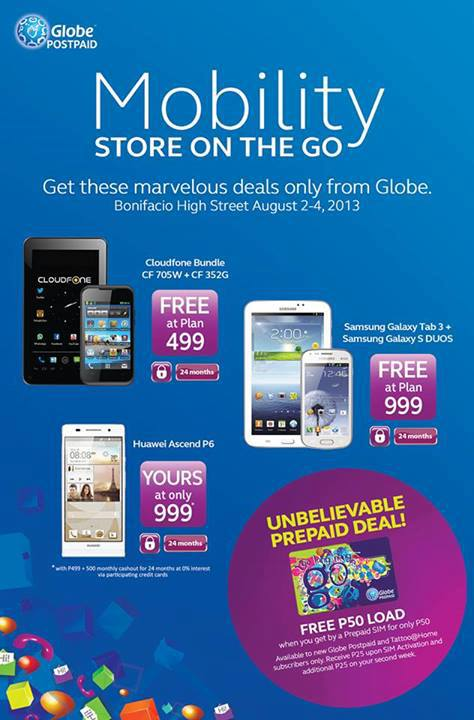 Globe Mobility Free Samsung Galaxy Tab 3 and S Duos at Plan 999