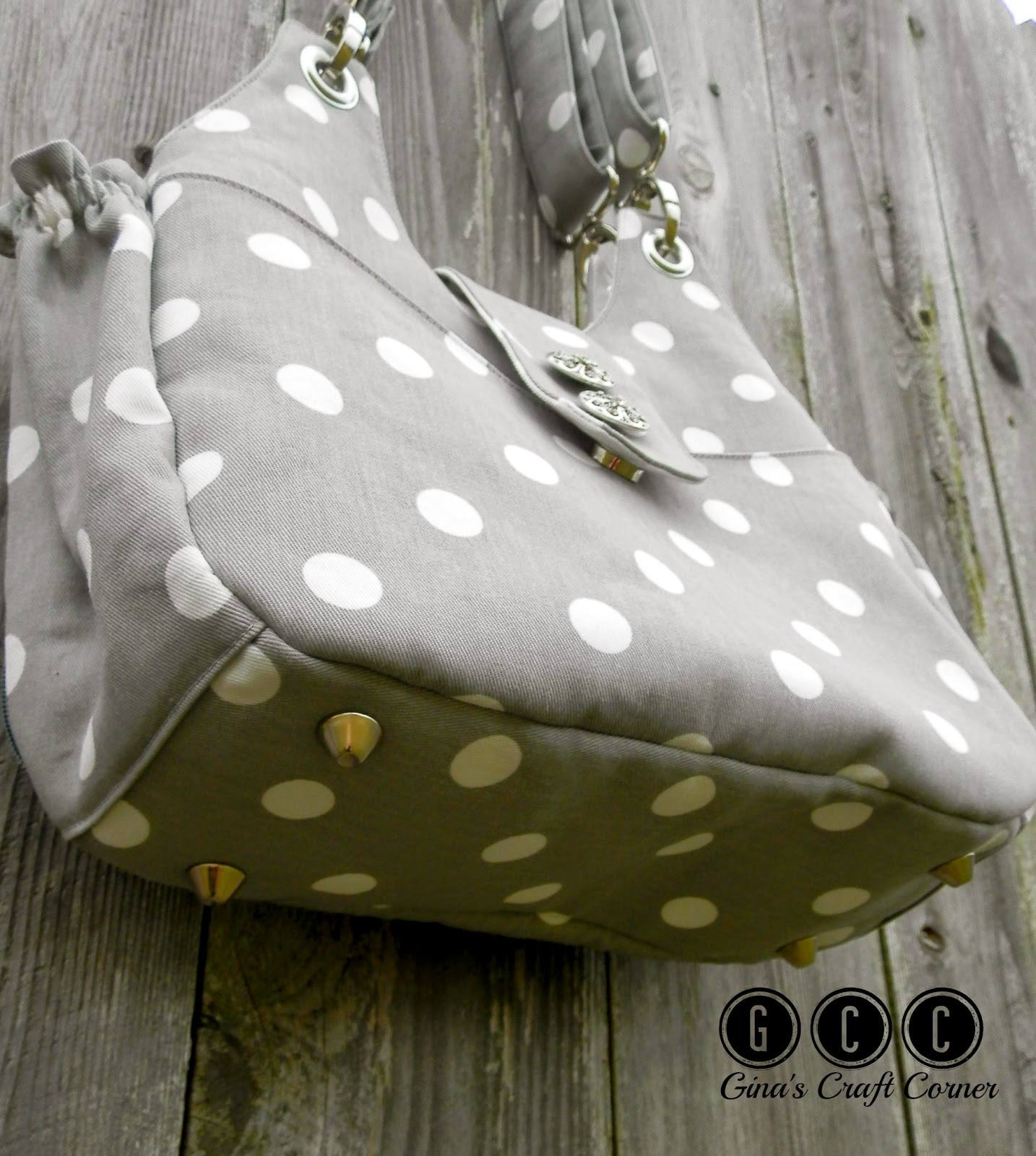 How to add purse feet to handbags by GCC (Gina's Craft Corner)