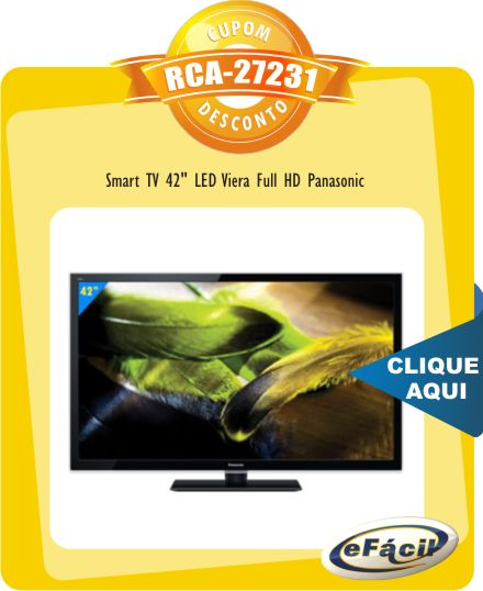 Smart TV 42 LED Viera Full HD Panasonic