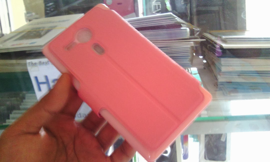 MLT Leather Case Wallet with Stand Sony Xperia SP - Baby Pink