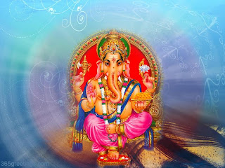 ganesh wallpaper blue background
