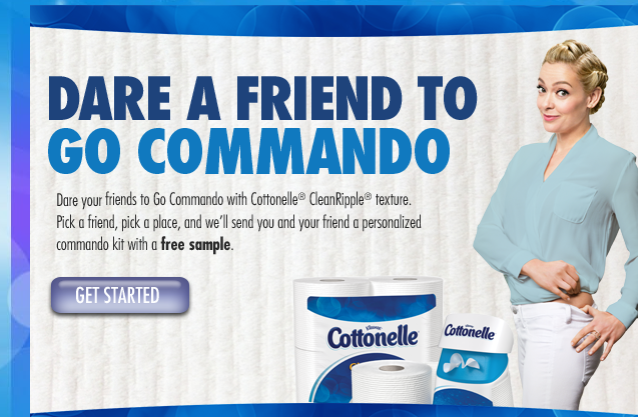 "Making Ends Meet: FREE sample: Cottonnelle ""Go Commando"" kit."
