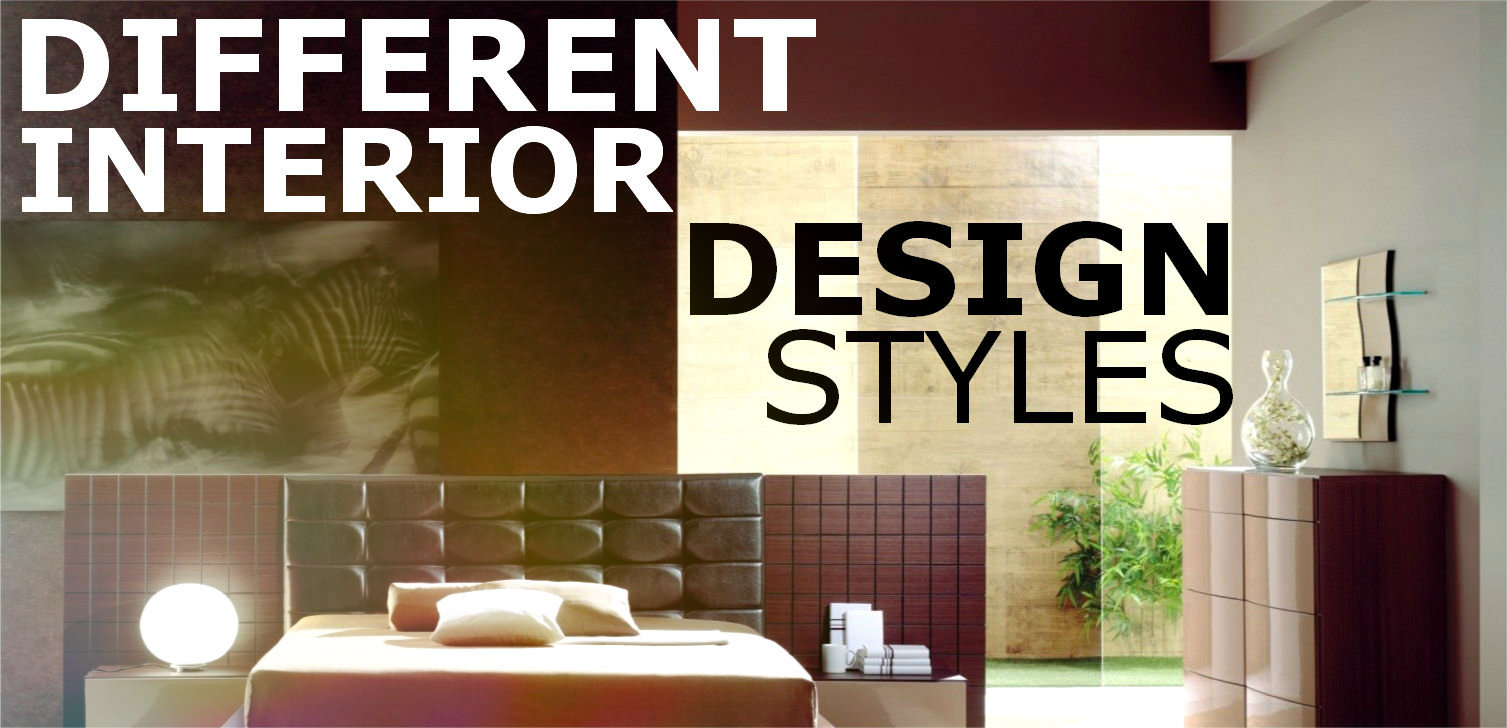 The world according to me different interior design for Different interior design styles