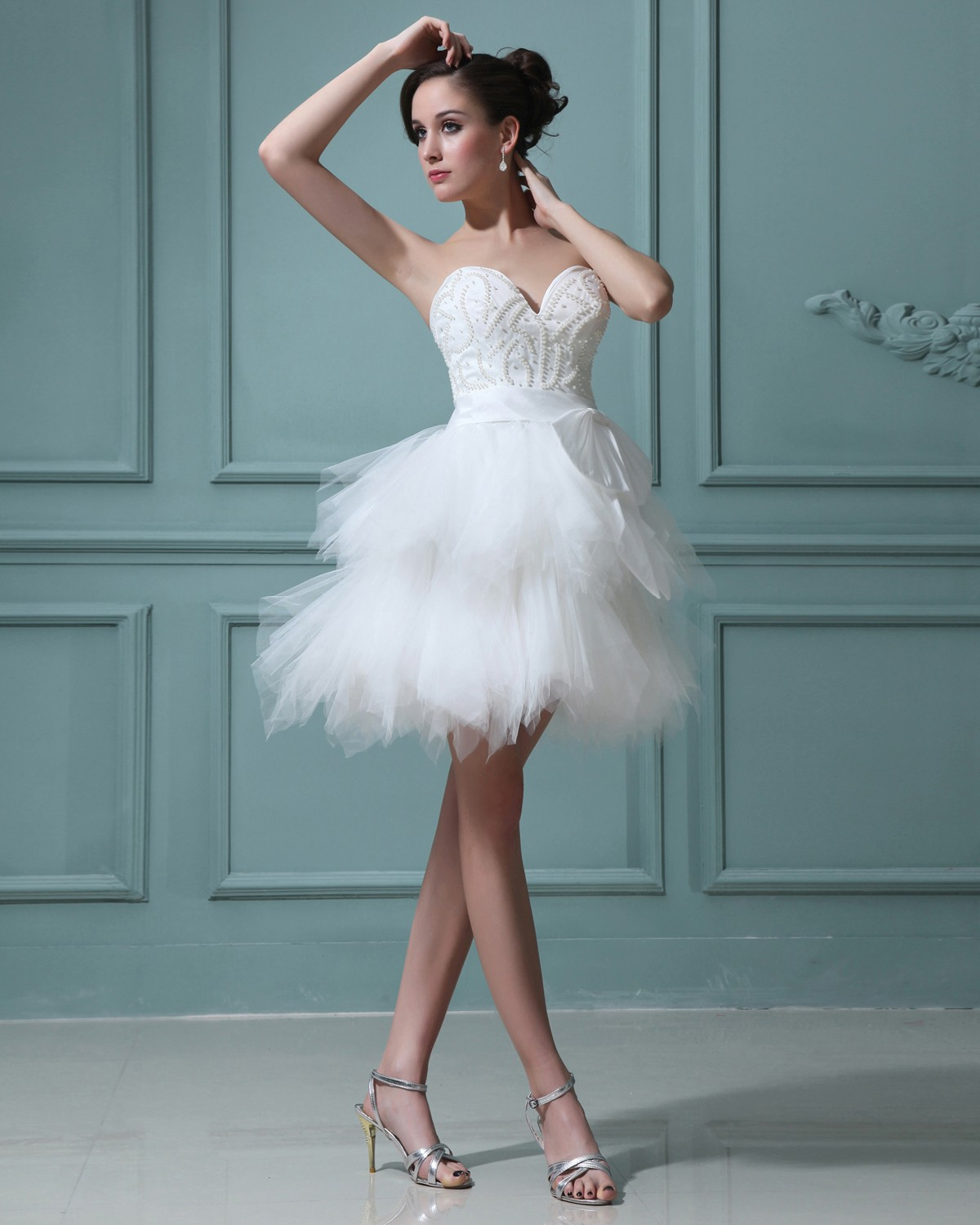 Elegant Simple Short Wedding Dresses