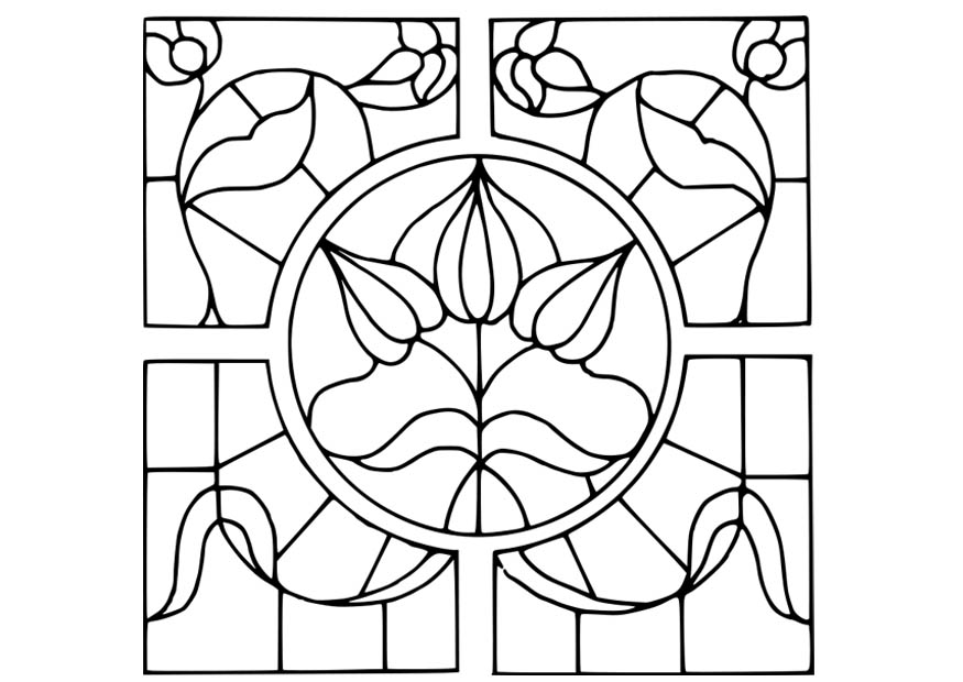 Flower Design Coloring Pages - Flower Coloring Page