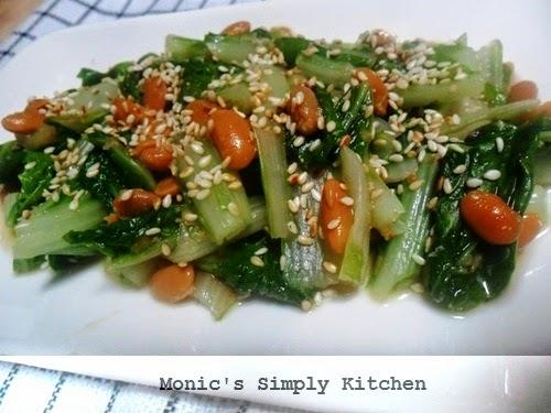 salad ala korea sawi tauco