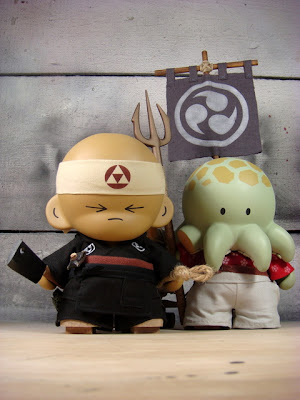 The Huck Gee Project: The Sushi Chef &amp; Octo Samurai Custom Munny Vinyl Figures