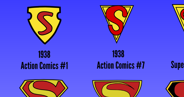 Every Significant Superman Logo Infographic by The Geek Twins
