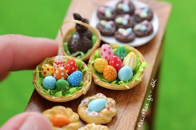 easter food set miniature