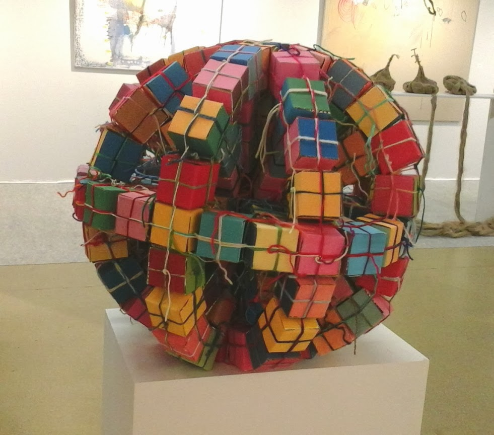kate mackay, salon des realites nouvelles, paris, sculpture, contemporary, art, abstract, round, cube