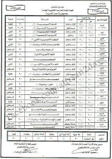 جدول ومواعيد امتحانات الثانوية العامة المصرية 2013 للمرحلة الاولى والثانية