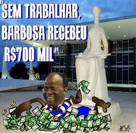 Ministro Joaquim Barbosa recebe sem trabalhar