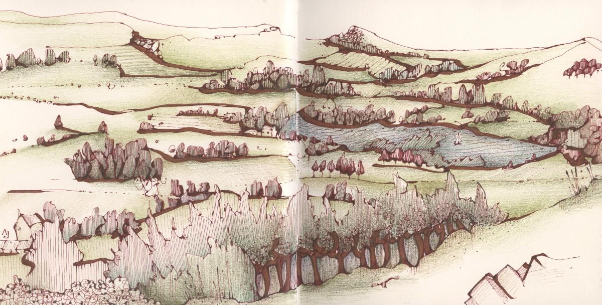 andrea joseph's sketchblog: on a magic carpet ride