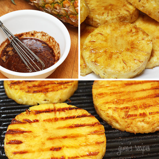 Grilled Pineapple Grilled pineapple