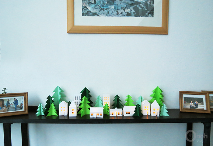 DIY paper Christmas tree - Ohoh Blog