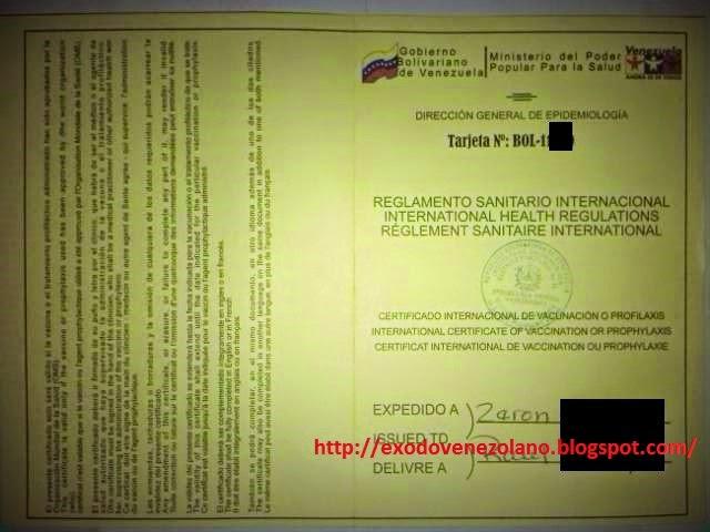 Éxodo Venezolano: Certificado de Salud Internacional