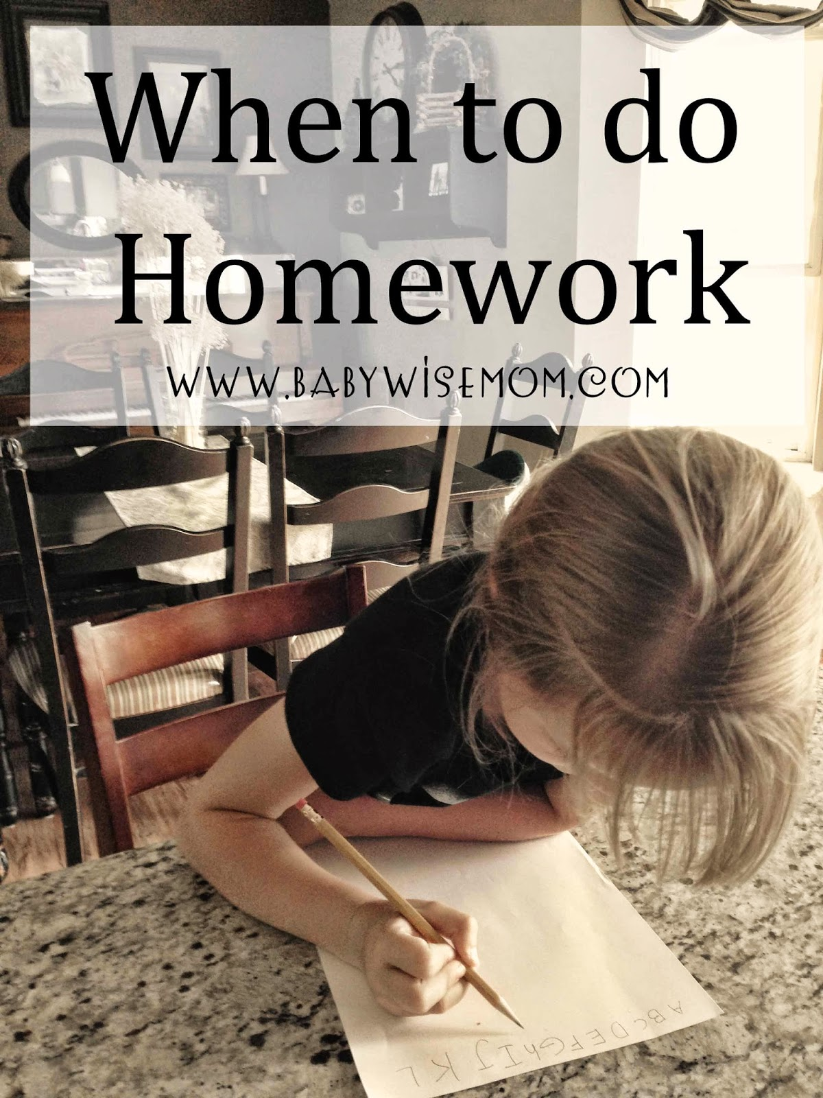 When to Do Homework?