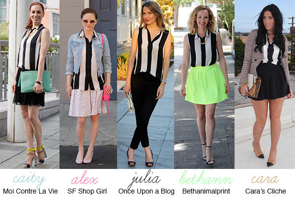1 Black-and-White Shirt, 5 Ways
