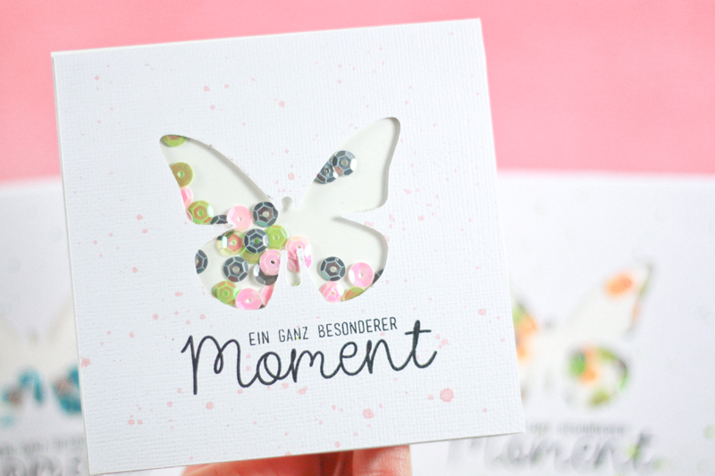 Beautiful Sizzix Card Making Ideas Part - 1: Last Step, Just Glue Your Blank Card Inside To Cover The Foil. Wait A  Minute And Then, Shake Your Card! :)