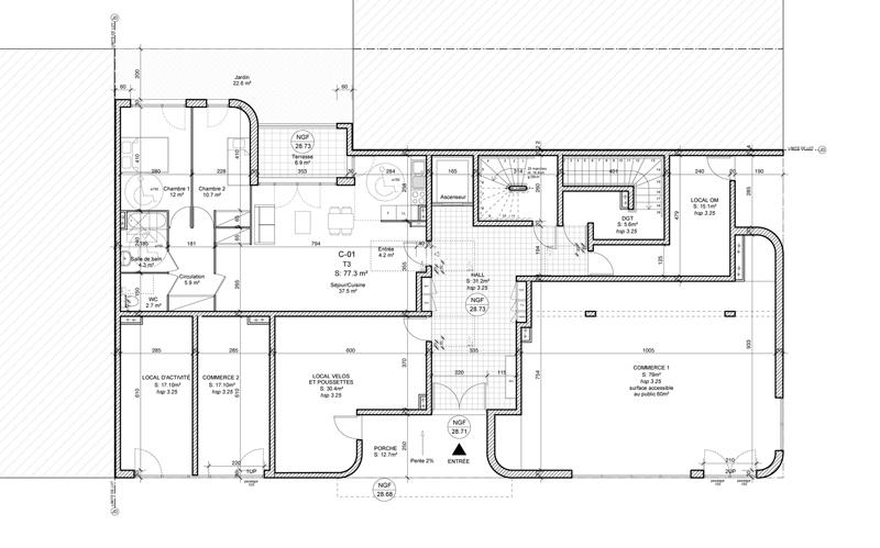 coo architectes 16 logements sociaux. Black Bedroom Furniture Sets. Home Design Ideas