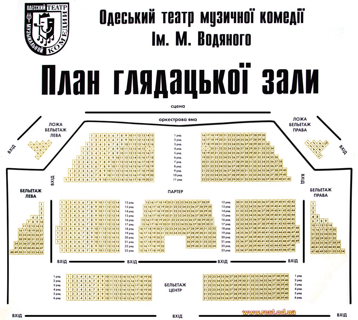 Театр музкомедии схема зала спб