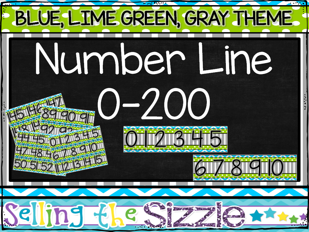 http://www.teacherspayteachers.com/Product/Number-Line-0-200-Blue-Lime-Green-Gray-Themed-1319723