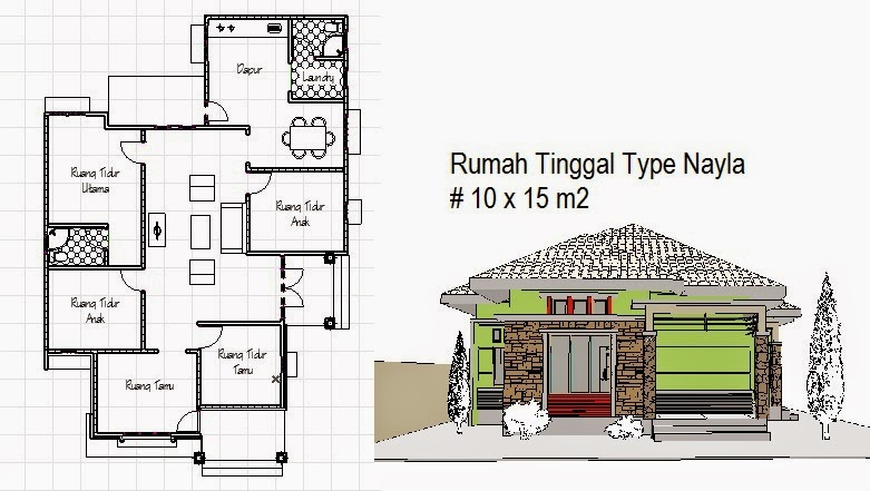 Desain Ini Untuk Rumah Yang Tidak Terlalu Besar Tapi Elegan Dengan Ukuran Lahan  M Terdiri Dari  Kamar Tidur Mengisi Ruang Ruang Keluarga Yang