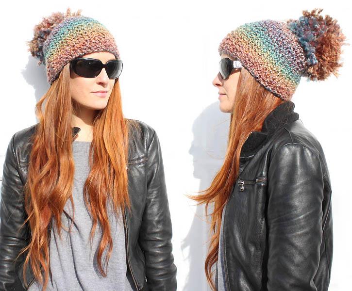 diy pom pom beanie [knitting pattern]