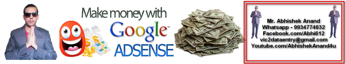 Make Unlimited Income With Google Adsense.Google Adsense Video Training In Hindi Language