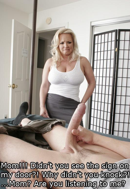 mother son pantyhose wank story