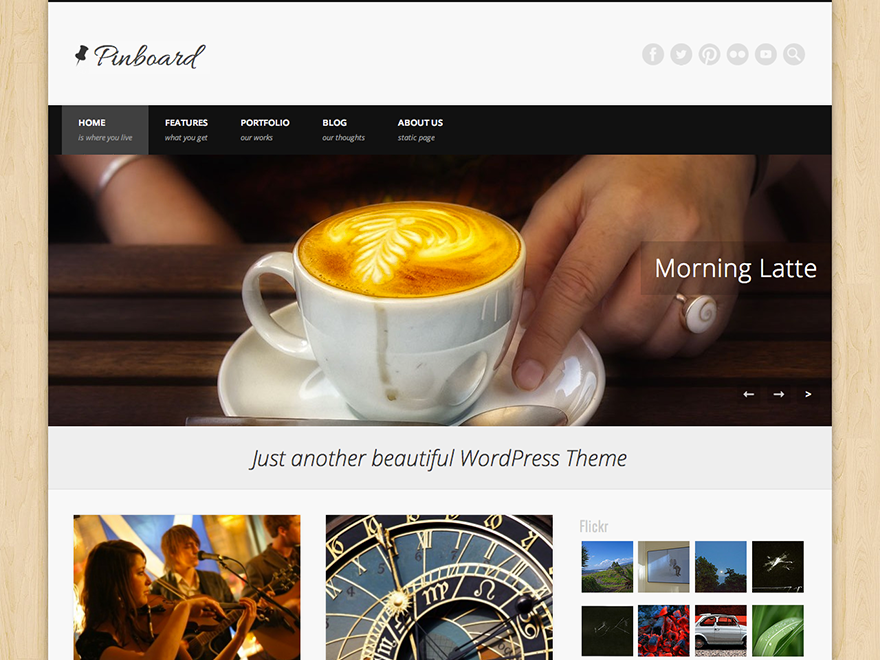 Download PinBoard - Free Responsive Wordpress Portfolio Themes 2015