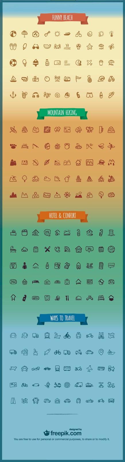 Paquete de iconos gratis: Viajes y vacaciones
