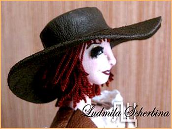 кукольная шляпа из кожи своими руками