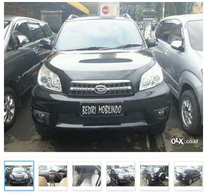 Mobil Bekas Jakarta Timur : Daihatsu Terios Tx 1.5 A/t 2012